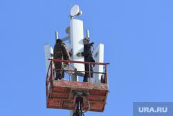 Установка вышки сотовой связи 5G на Уралмаше. Екатеринбург