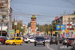 Коттеджный посёлок. Курган , машины, автодорога, город курган, жд вокзал, башня, улица рихарда зорге, дорога к вокзалу