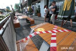 Закрытые из-за пандемии торговые центры. Пермь, на вынос, пандемия коронавируса, супермаркет закрыт