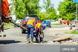 Дорожные работы. Челябинск, дорожные рабочие, дорожные работы, дорожники