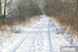 Окраины, дома, дороги. Тюмень, снег, зима, дорога