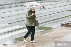 Дождливый день. Тюмень, пешеходный переход, непогода, люди с зонтами, дождь, человек с зонтом