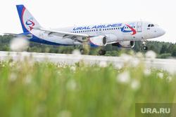 Самолёт Аэрофлота в ливрее Добролета. Екатеринбург, авиакомпания уральские авиалинии, авиакомпания ural airlines