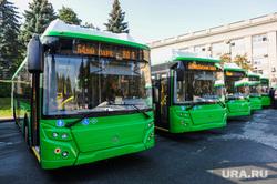 Текслер Алексей на презентации автобусов на газомоторном топливе. Челябинск, общественный транспорт, автобус на газу