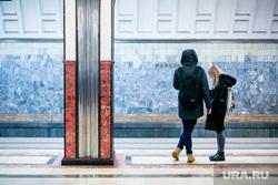 Станция «Маяковская» Московского метрополитена. Москва, метро, московский метрополитен, маяковская, вестибюль станции, орлец, родонит