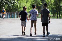 Благоустройство набережной Тобола. Курган, подростки, лето, дети, каникулы, мальчики, пацаны, школьники