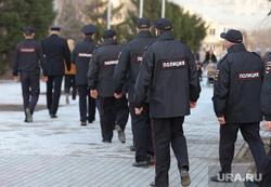 Несанкционированная акция сторонников оппозиционера Алексея Навального. Курган, горсад, полиция