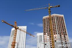 Виды Екатеринбурга, строительный кран, недвижимость, новостройка, новый дом, город, башенный кран, строительство