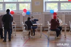 Выборы- 2021. Курган , избирательная комиссия, наблюдатели, выборы, избирательный участок, голосование, урна для голосования, бюллетень, выборы 2021