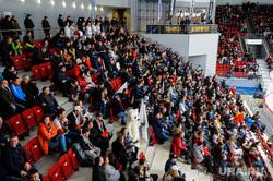 Хоккейный матч между командами ХК Трактор и ХК Йокерит. Челябинск, трибуна сектора а
