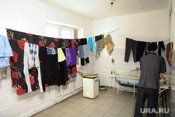Район Черный Мыс. Сургут, общежитие, сушка белья, белье на веревке