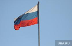 Здания. Москва, россия, рф, флаг россии