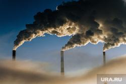 Клипарт. Сургут, дым, трубы, пар, грэс 2, выбросы, экология, дымэкология
