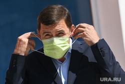 Визит Евгения Куйвашева в Нижнюю Туру, куйвашев евгений, масочный режим, коронавирус, covid, ковидные ограничения