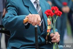 Возложение цветов к мемориалу Вечного Огня в день памяти и скорби, в день начала ВОВ. Курган, гвоздики, ветеран, ветеран вов