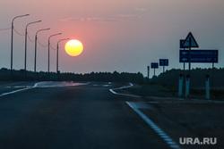 Разное. Курган, ночная трасса, солнце, ночь, ночь, трасса, дорога, закат, вечер, дорога в ночь, автомобильная трасса