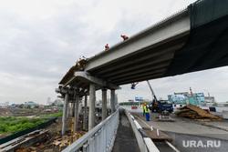 Строительство объектов к саммитам ШОС и БРИКС. Челябинск, мост, виадук, развязка, стройка