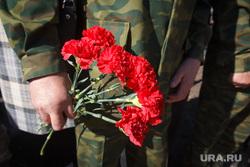 Открытие сквера Патриотический. Магнитогорск, гвоздики, цветы, мужские руки