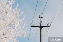 Клипарт. Сургут, зима, электроэнергия, лэп, провода, энергетика, электричество