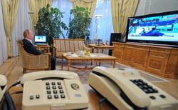 Клипарт. Сток Сайт президента России, телефон, путин владимир, телевизор