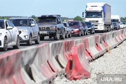 Обрушение надземного перехода на трассе Челябинск -Курган. Курган, пробка, автомобильная пробка, ремонт дороги