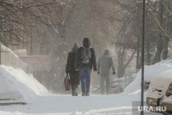 Снегопад. Челябинск, снег, пешеход, снегопад, зима, метель, вьюга, буран, мороз