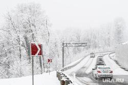Виды Сочи, снег, зима, непогода, горная дорога, природа краснодарского края