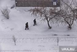 Метель. Курган, снег, непогода, метель, плохая погода, плохая видимость, холод, зима