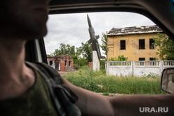 Поселок Октябрьский: разрушения. Донецк, ракета