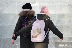 Площадь Ленина. Курган, школьники, дети, ученики школы