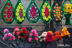Рябковское кладбище. Курган, венок, искусственные цветы, ритуальные услуги, похоронный венок