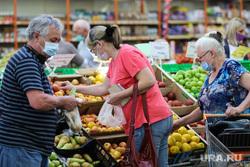Торговая сеть «Метрополис». Курган, продукты, покупатели, фрукты, корзина с продуктами, магазин, фрукты овощи, питание