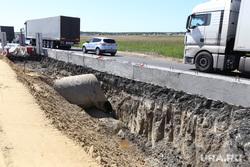 Обрушение надземного перехода на трассе Челябинск -Курган. Курган, ремонт дороги, введенка, трасса челябинск курган