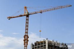 Виды Екатеринбурга, высотка, строительный кран, новостройка, жилые дома, новый дом, строительство