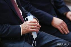 Конференция регионального отделения партии Единая Россия. Курган, депутат, чиновник, масочный режим, медицинская  маска