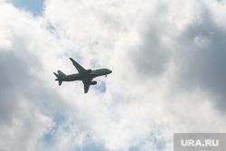 Виды города. Тюмень, небо, самолет, самолет в небе