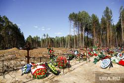 Червишевское кладбище. Тюмень, венки, могилы, кресты, кладбище