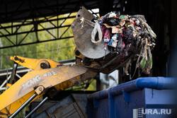 Мусороперегрузочная станция на базе полигона «Широкореченский». Екатеринбург , отходы, полигон тбо, мусорка, ковш экскаватора, свалка, помойка, эскаватор