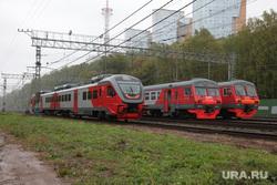 Виды города. Пермь, электричка, электропоезд, железная дорога, рельсовый автобус