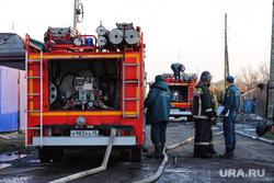 Тушение пожара  на улице Зои Космодемьянской. Курган, мчс, пожар, тушение пожара
