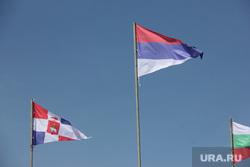 Фото. Пермь., флаг сербии, флаг пермской области