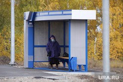 Село Введенское. Курган, автобусная остановка