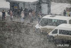 Снегопад. Челябинск, снег, погода, автомобиль, остановка общественного транспорта, снегопад, климат, маршрутки, автотранспорт