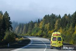 Виды Свердловской области, скорая помощь, трасса, машина реанимации, сельская медицина