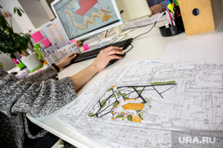 Архитектурная студия «ROCK» Екатеринбург, чертеж, схема, работа в офисе