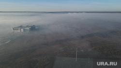 Смог в мкр Солнечный и работа Мчс России на горящем торфяннике. Екатеринбург, дым, смог, вид сверху, туман