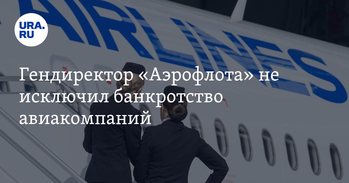 Гендиректор «Аэрофлота» не исключил банкротство авиакомпаний